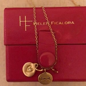 Helen Ficalora gold charm necklace